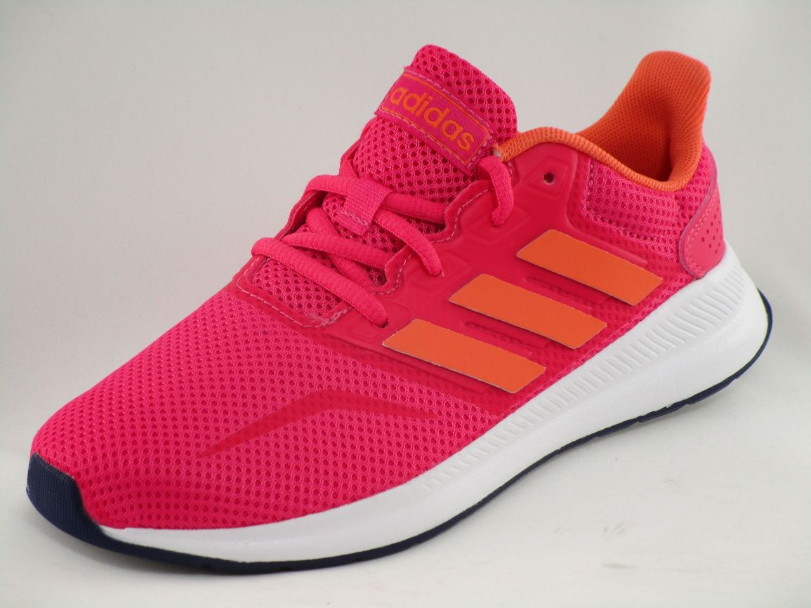 DEPORTIVO RUNFALCON K TEXTILE/SYNTHETICS REAL PINK S 18/SEMI CORAL/DARK BLUE