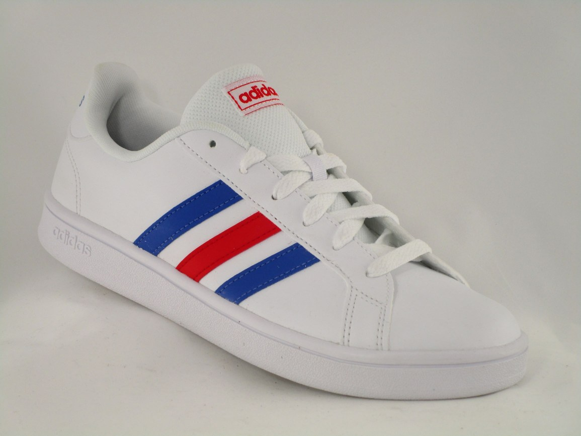 DEPORTIVO GRAND COURT BASE SINTÉTICO FTWR WHITE/BLUE/ACTIVE RED