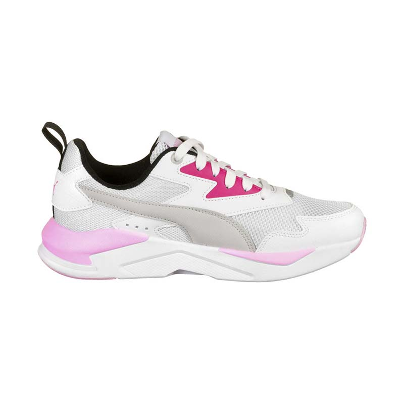 DEPORTIVO MESH / SYNTHETIC LEATHER X-RAY LITE JR WHITE-GRAY-PINK-BLACK-SILVER