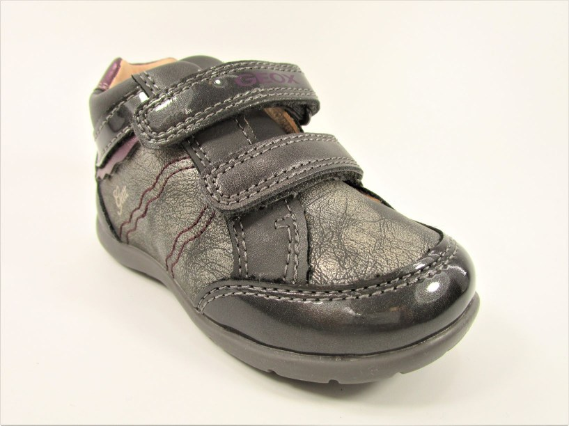 DEPORTIVA  B ELTHAN GIRL B. PIEL/SINTETICO DARK GREY/PURPLE