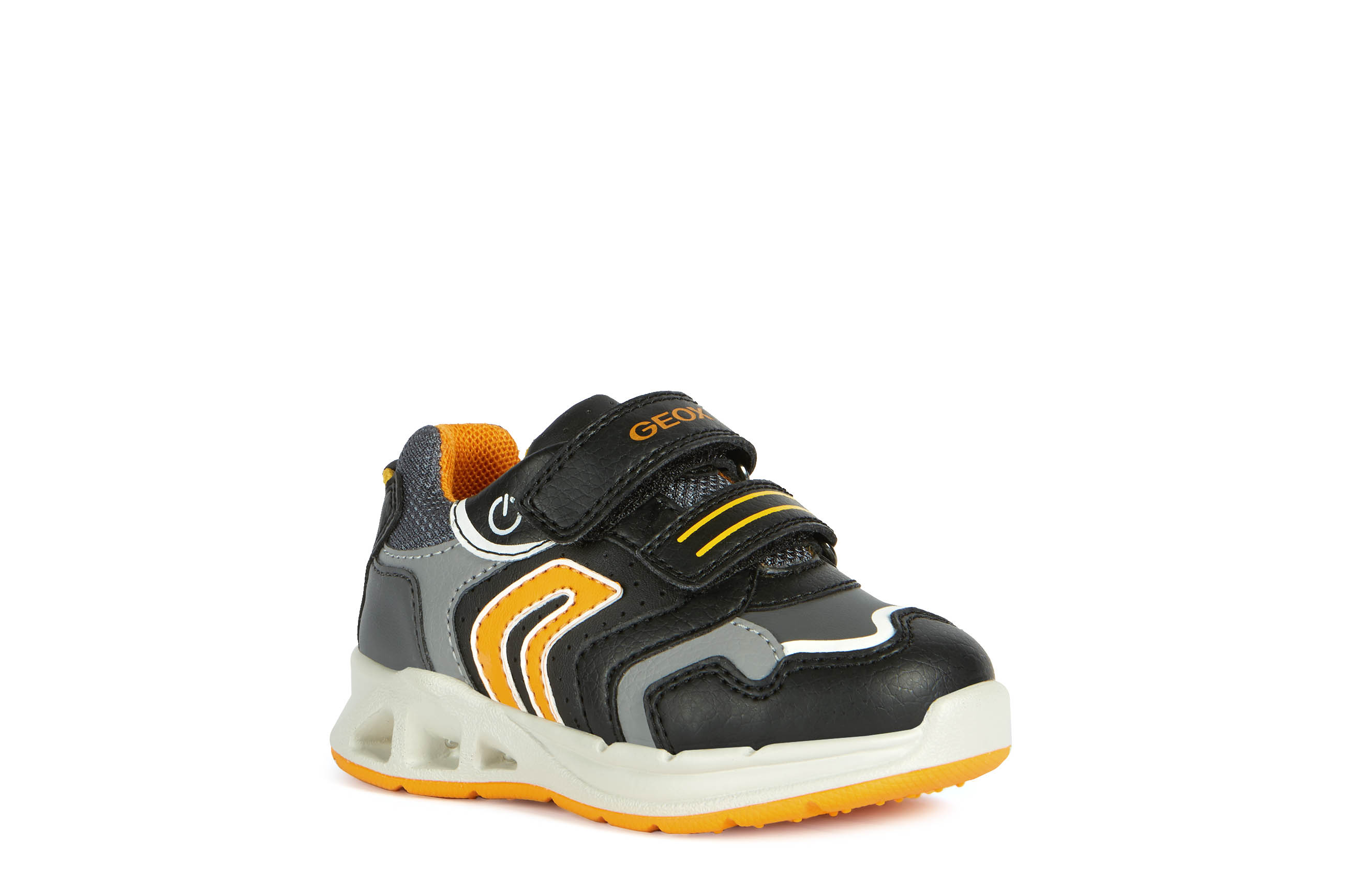 DEPORTIVO B DAKIN BOY A PIEL/SINTETICO  BLACK/ORANGE