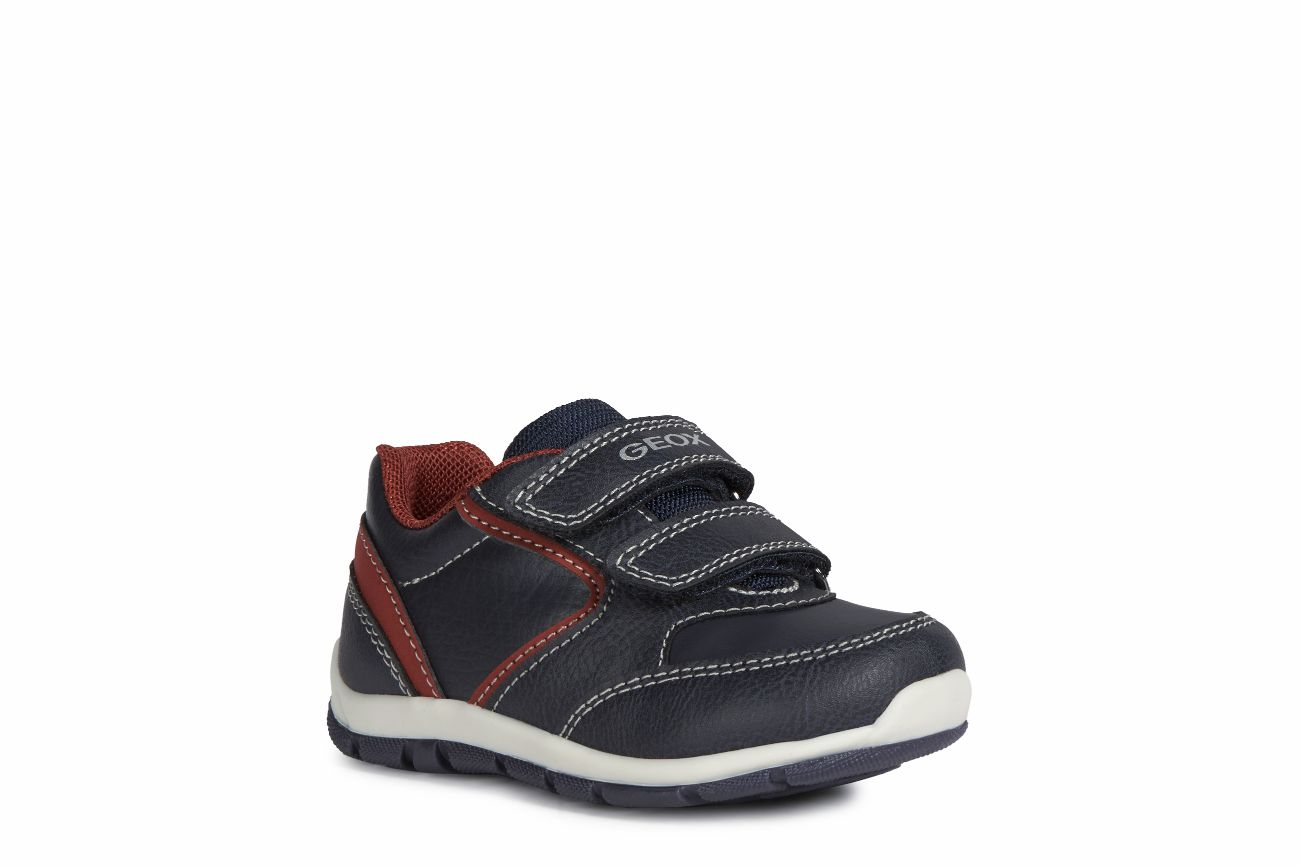ADEPORTIVADO B HEIRA BOY A  PIEL/SINTETICO  NAVY/DARK RED