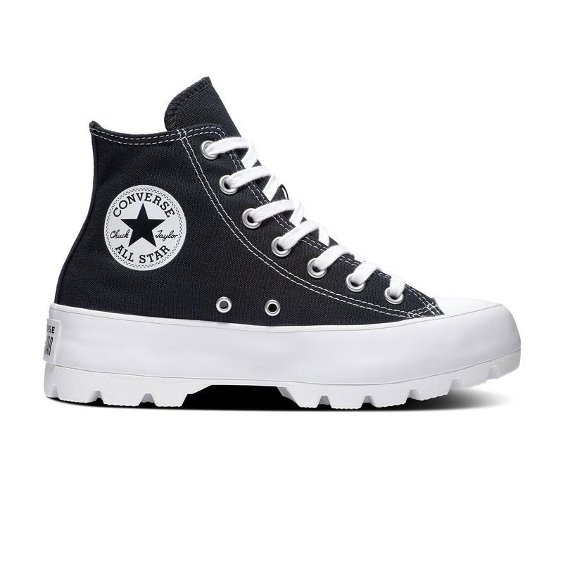 BOTA LONA CHUCK TAYLOR ALL STAR LUGGED HI WOS T/O NEGRO