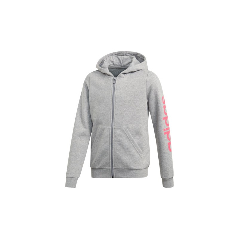 SUDADERA  CAPUCHA CREMALLERA YG E LIN FZ HD 52% ALGODÓN 48% POLYESTER RECICLADO MEDIUM GREY HEATHER/REAL PINK S18