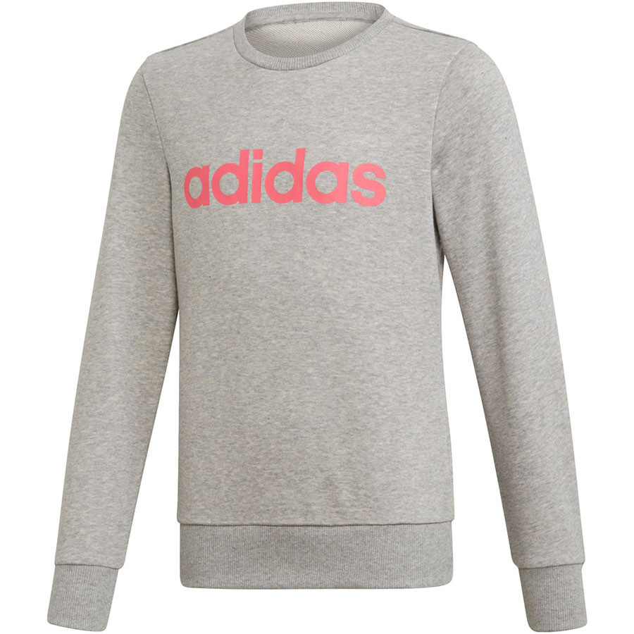 SUDADERA YG E LIN SWEAT 70% ALGODÓN 30% POLYESTER RECICLADO MEDIUM GREY HEATHER/REAL PINK S18