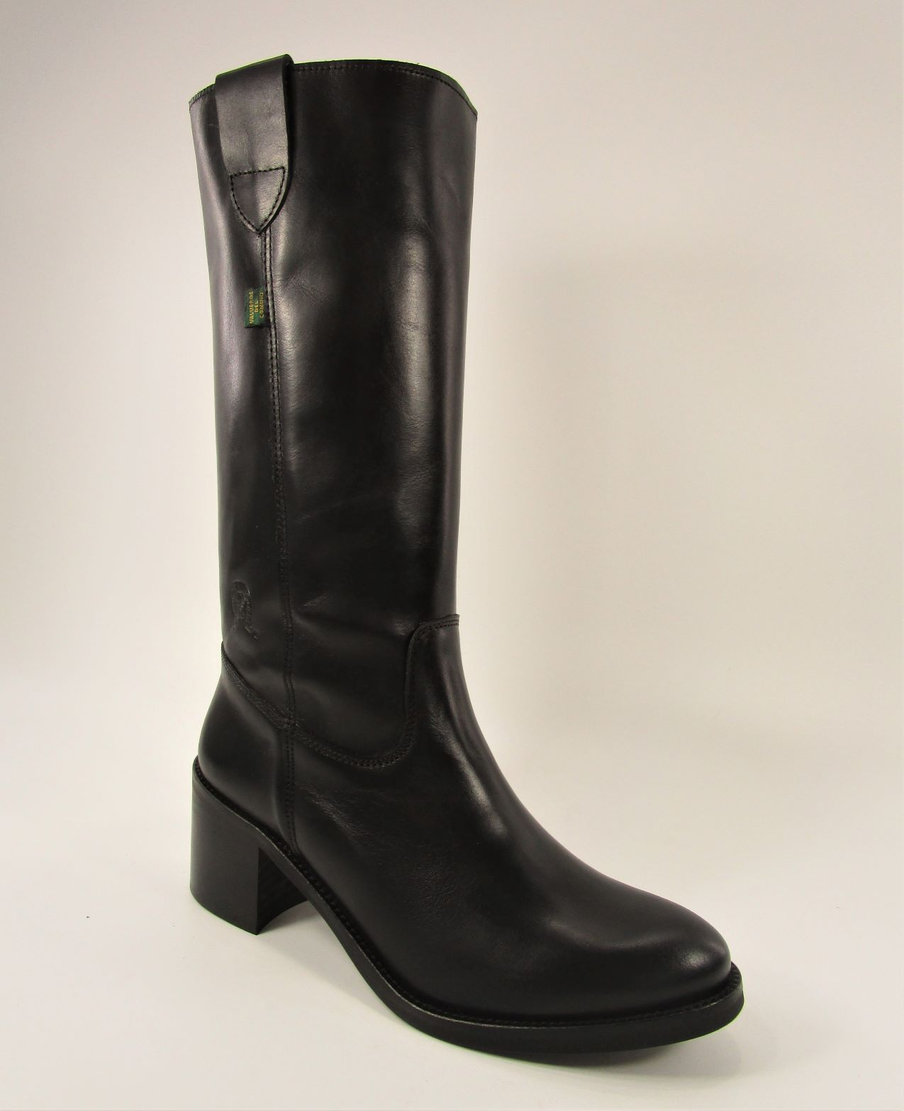 BOTA CAMPERA  TEXAS NEGRO TACON MEDIO