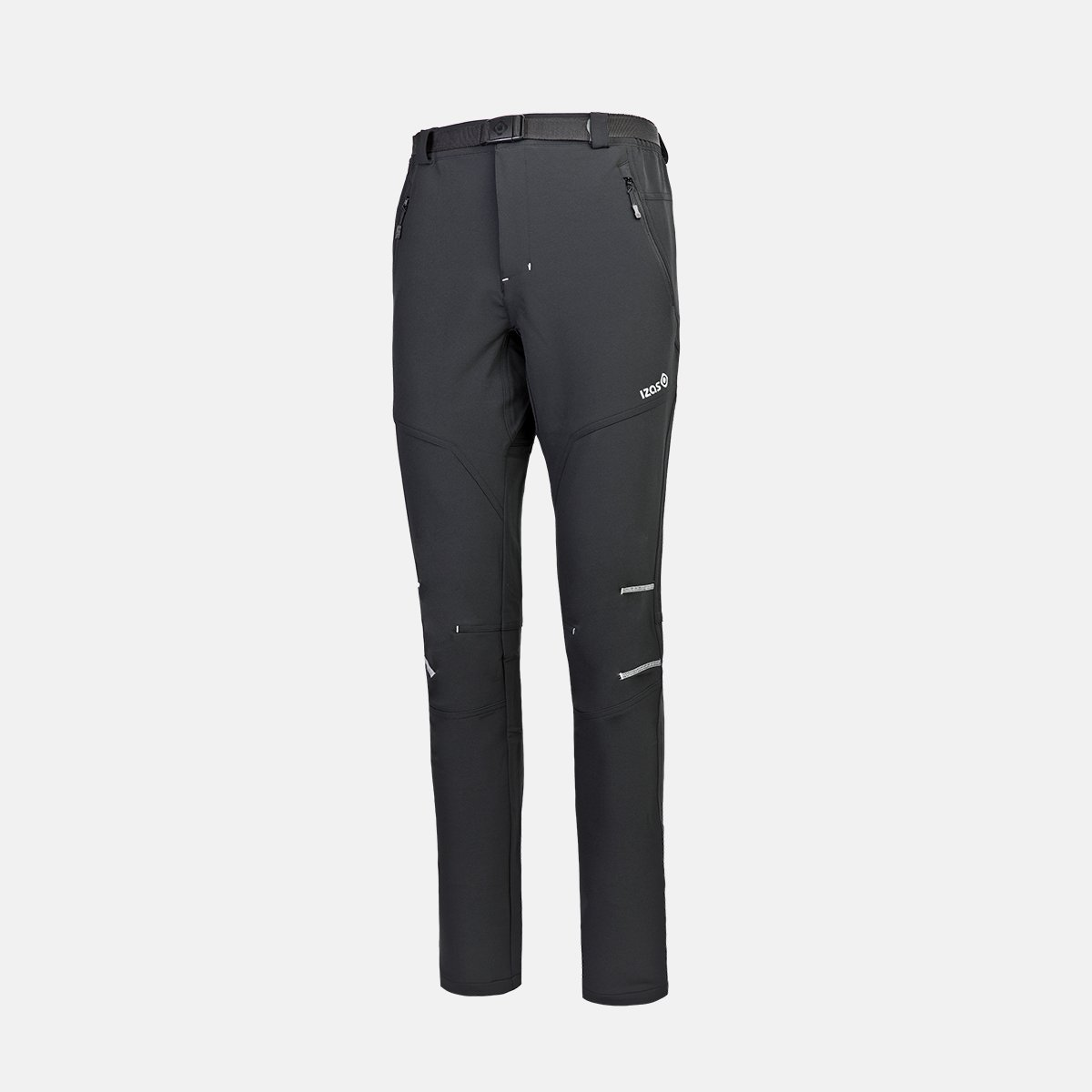 PANTALON LARGO ASGARD M FW 92% POLYESTER 8% ELASTANE 240-250 GR SLIM FIT MOUNT STRETCH WATER REPELLENT BREATHABLE BLACK/SILVER