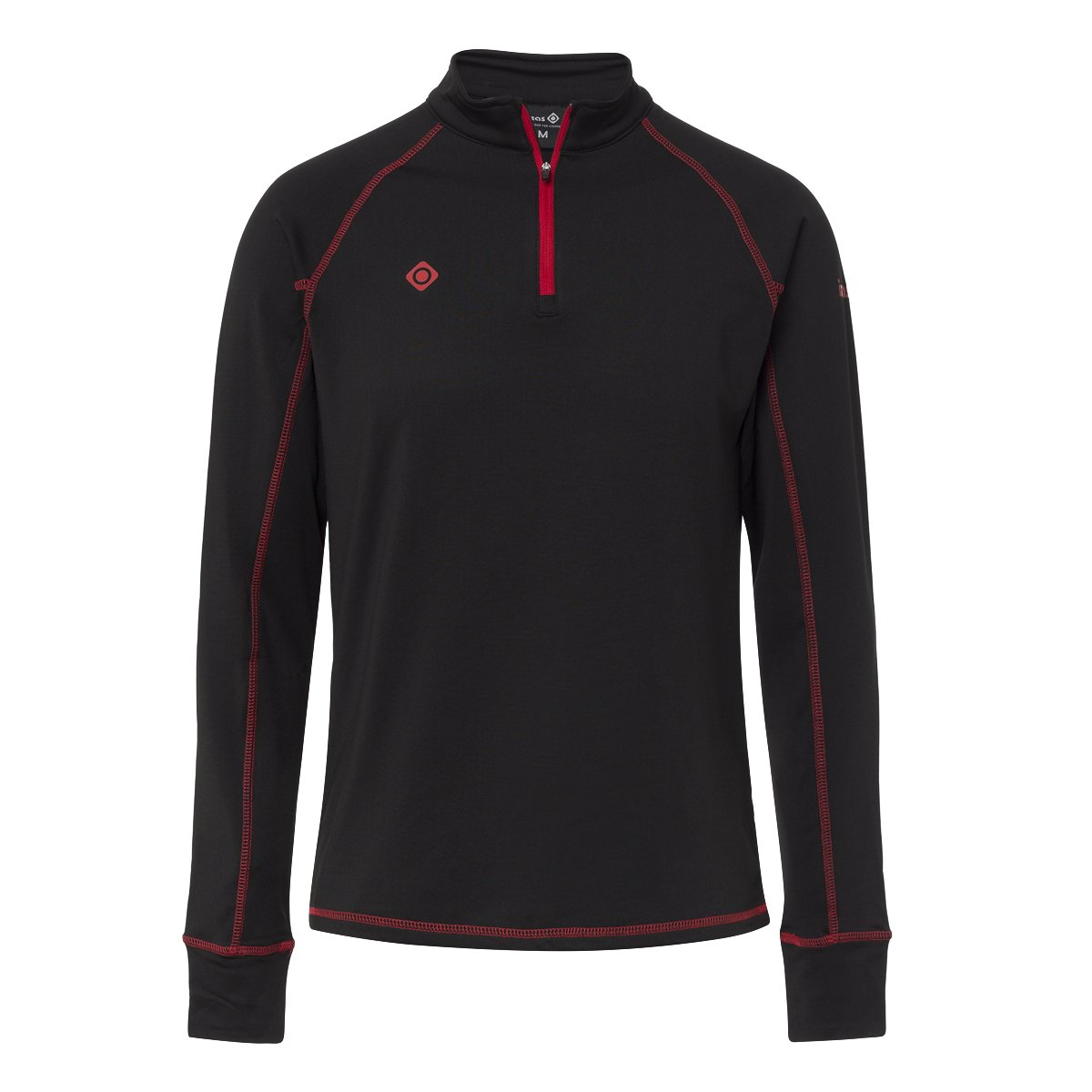CAMISETA TERMICA GORNER 230GR 92% POLYESTER 8% ELASTANE POLAR-STRETCH ALL SEASONS BLACK/RED