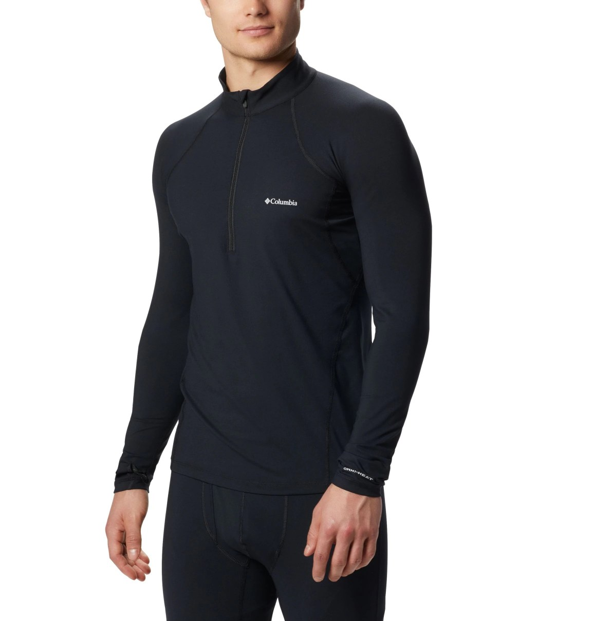 JERSEY MIDWEIGHT STRETCH LONG SLEEVE HALF ZIP FEATURES Omni-HEAT™ Omni-WICK™ FABRICS 85% polyester / 15% elastane BLACK