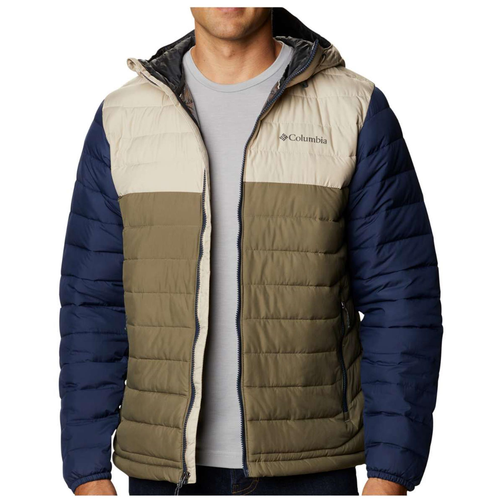 CHAQUETA CAPUCHA POWDER LITE™ HOODED JACKET FEATURES Omni-HEAT™ FABRICS 100% polyester GREEN