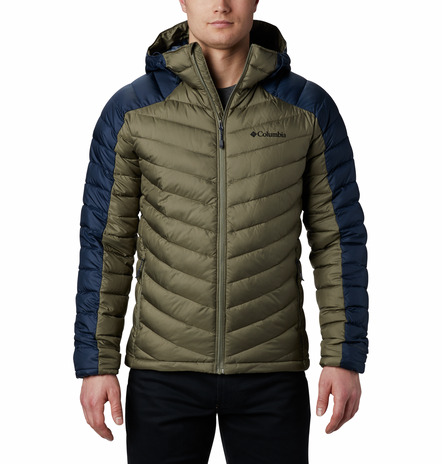 HORIZON EXPLORER™HOODED JACKET FEATURES Omni-HEAT™ 100% Polyester Stone Green Navy