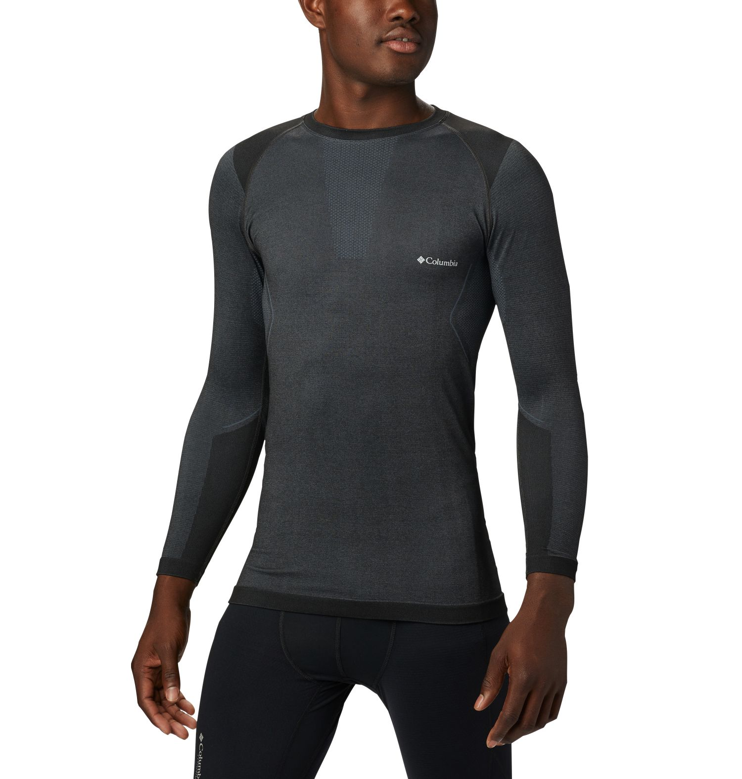 CAMISETA MANGA LARGA  M ENGINEERED LONG SLEEVE CREW 58% NYLON 34% POLYESTER 8% ELASTANE Omni-WICK ANTIMICROBIAL BLACK