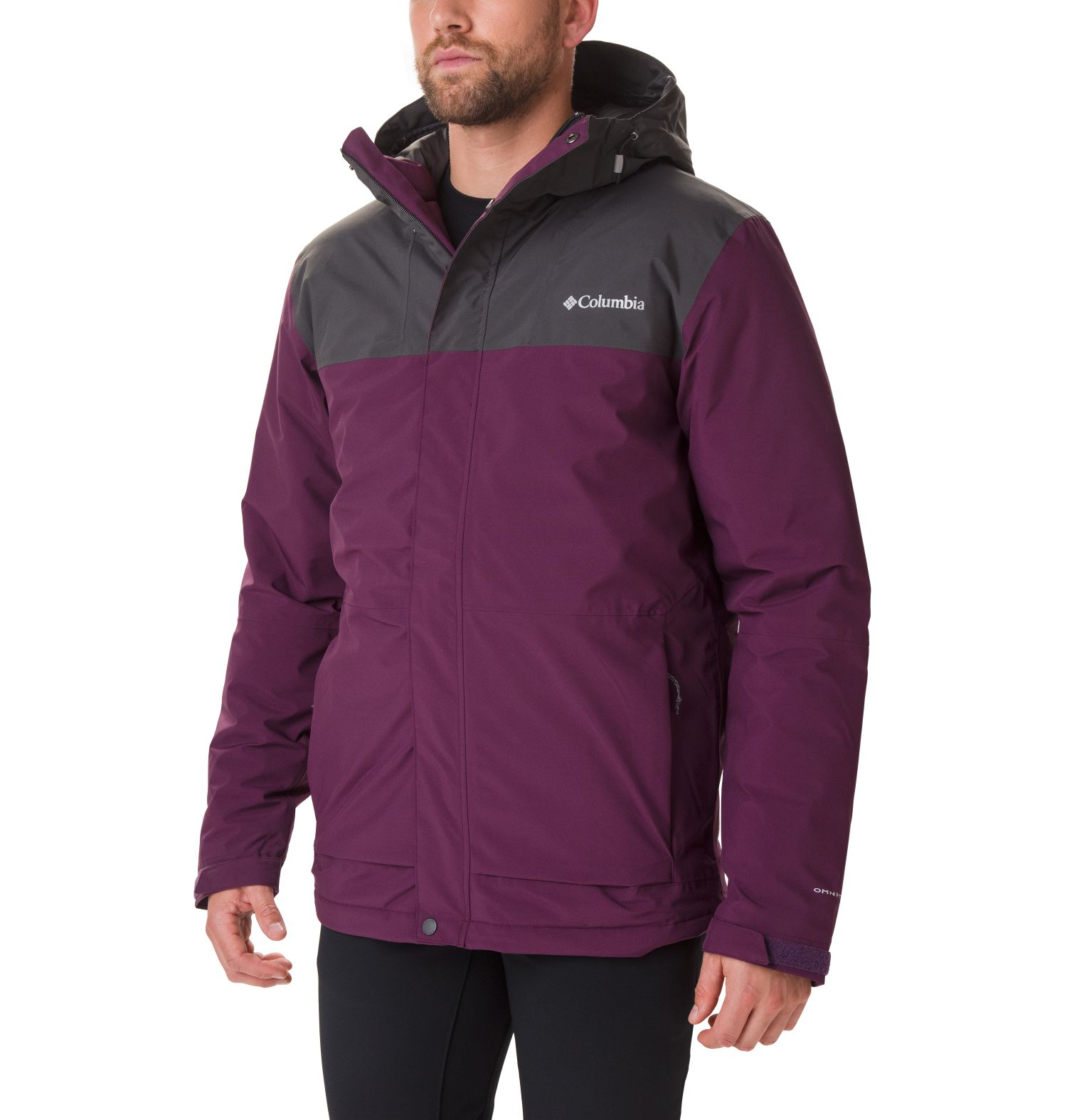 ABRIGO HORIZON EXPLORER INSULATED 100%POLYESTER  Omni-TECH Omni-HEAT BLACK CHERRY/SHARK