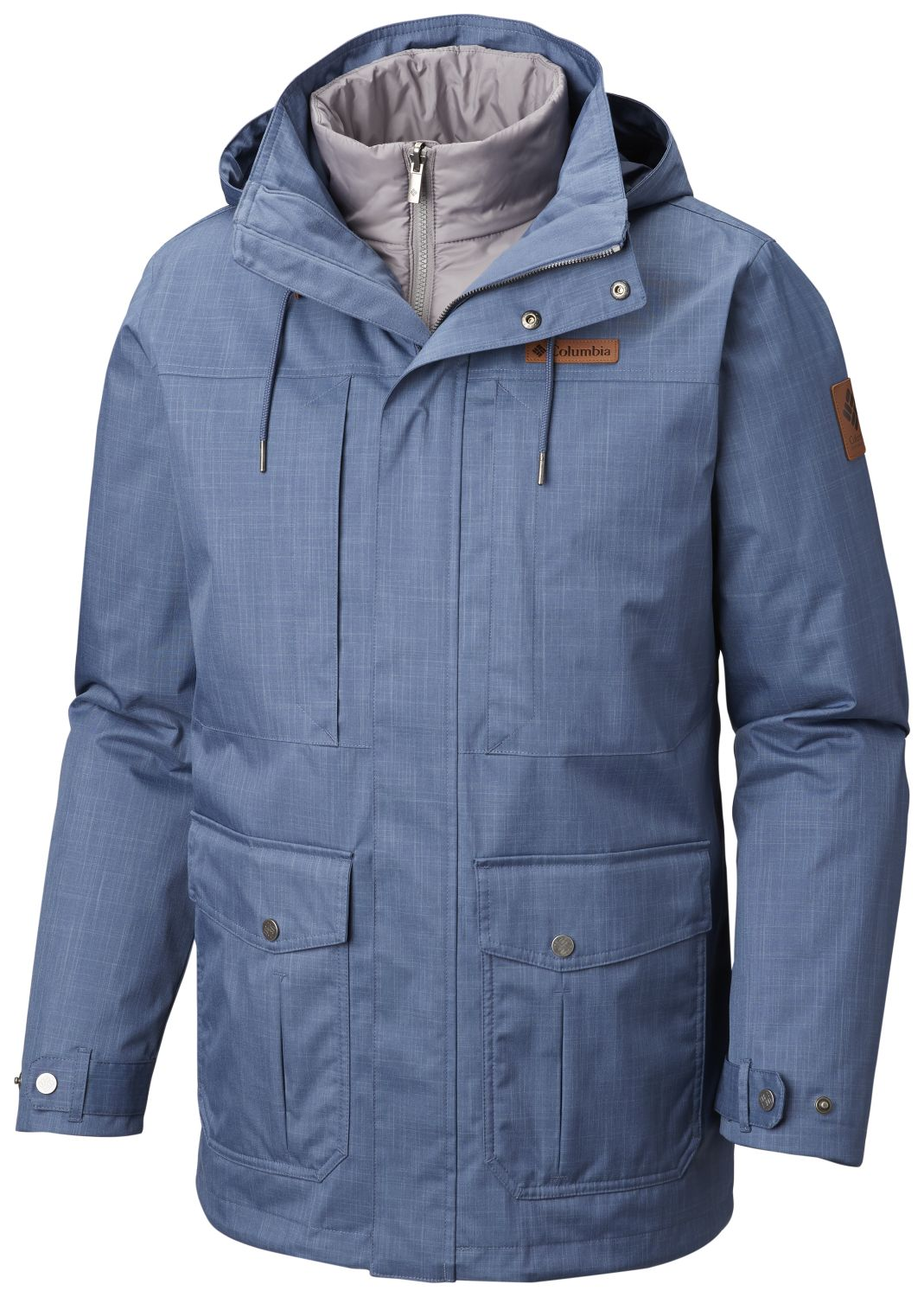 ABRIGO HORIZONS PINE INTERCHANGE JACKET 100% POLYESTER Omni-TECH WATERPROOF BREATHABLE OmnI-HEAT THERMAL REFLECTIVE INSULATED LINER DARK MOUNTAIN