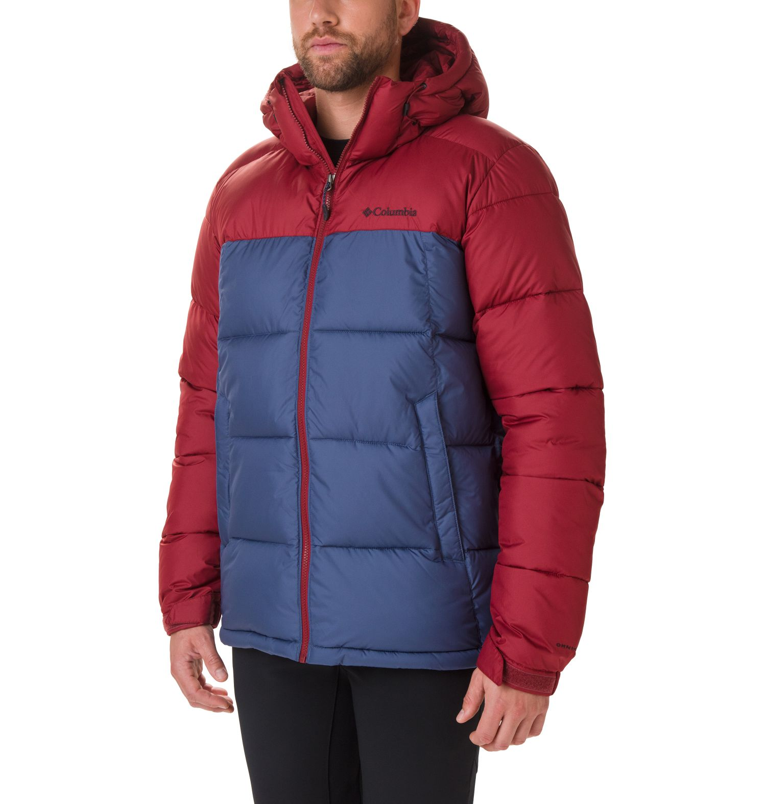 CAZADORA PIKE LAKE STORM-LITE DP II 100% POLYESTER Omni.HEAT THERMAL REFLECTIVE THERMARATOR WATER RESISTANT DARK MOUNTAIN/RED JASPER