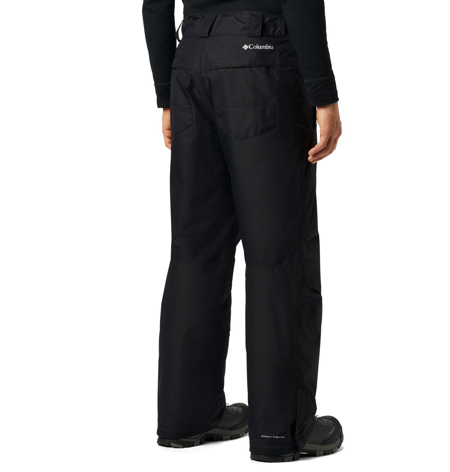 PANTALON LARGO 60G MICROTEMP XF II 100% POLYESTER Omni-TECH WATERPROOF BREATHABLE Omni-HEAT THERMAL REFLECTIVE BLACK