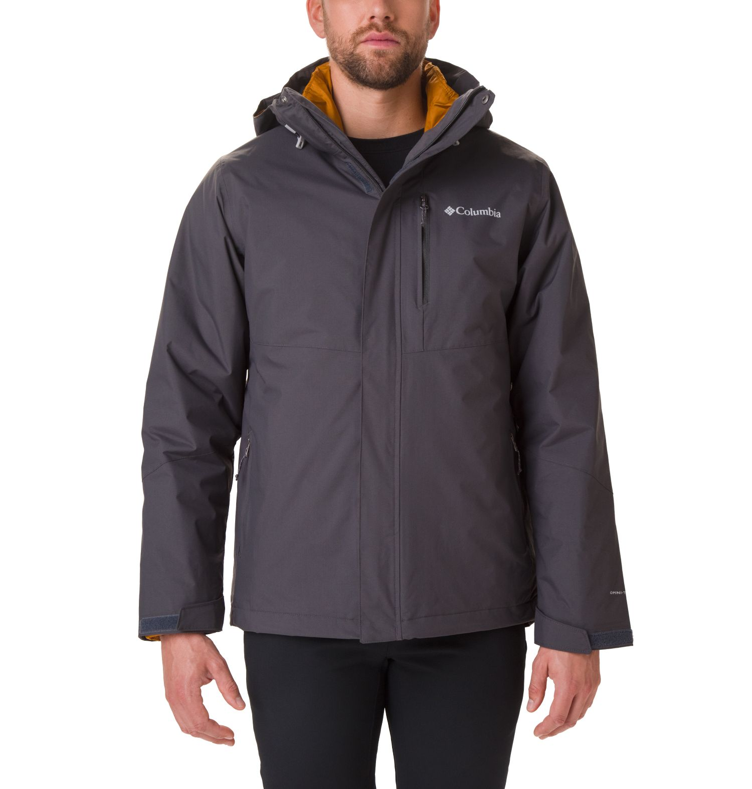 CHAQUETA  ELEMENT BLOCKER II INTERCHANGE SYSTEM  100% NYLON 210T Omni-TECH WATERPROOF BREATHABLE SHARK/BURNISHED AMBER