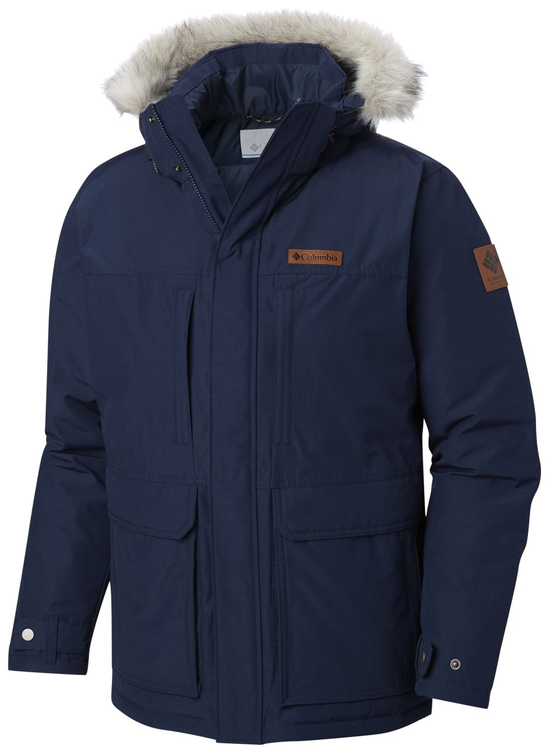 CHAQUETON MARQUAM PEAK 85% POLYESTER 15% COTTON WATER RESISTANT COLLEGIATE NAVY