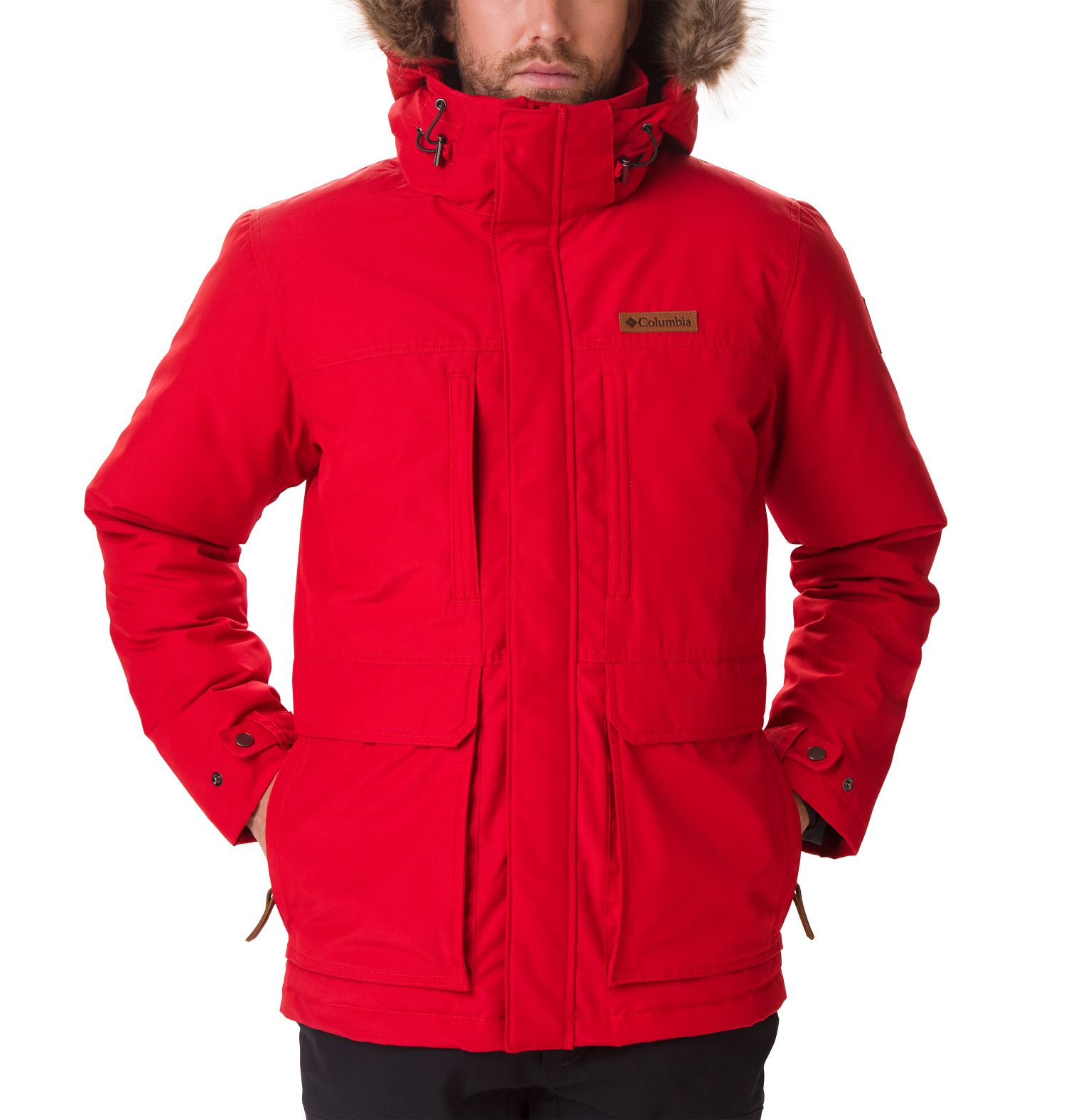 CHAQUETON MARQUAM PEAK 85% POLYESTER 15% COTTON WATER RESISTANT MOUNTAIN RED