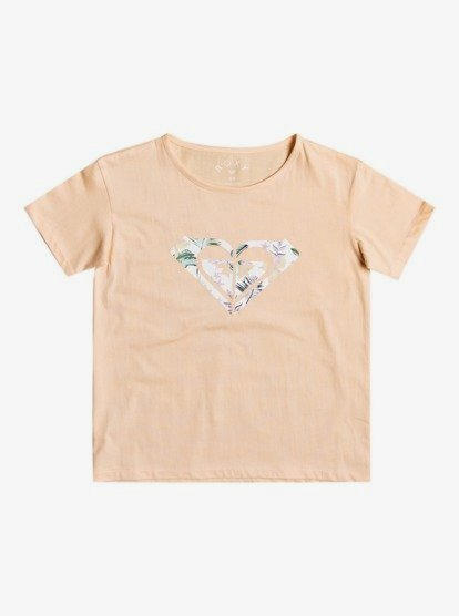CAMISETA MANGA CORTA DAY AND NIGHT PRINT 100% Organic Cotton RELAXED FIT APRICOT ICE