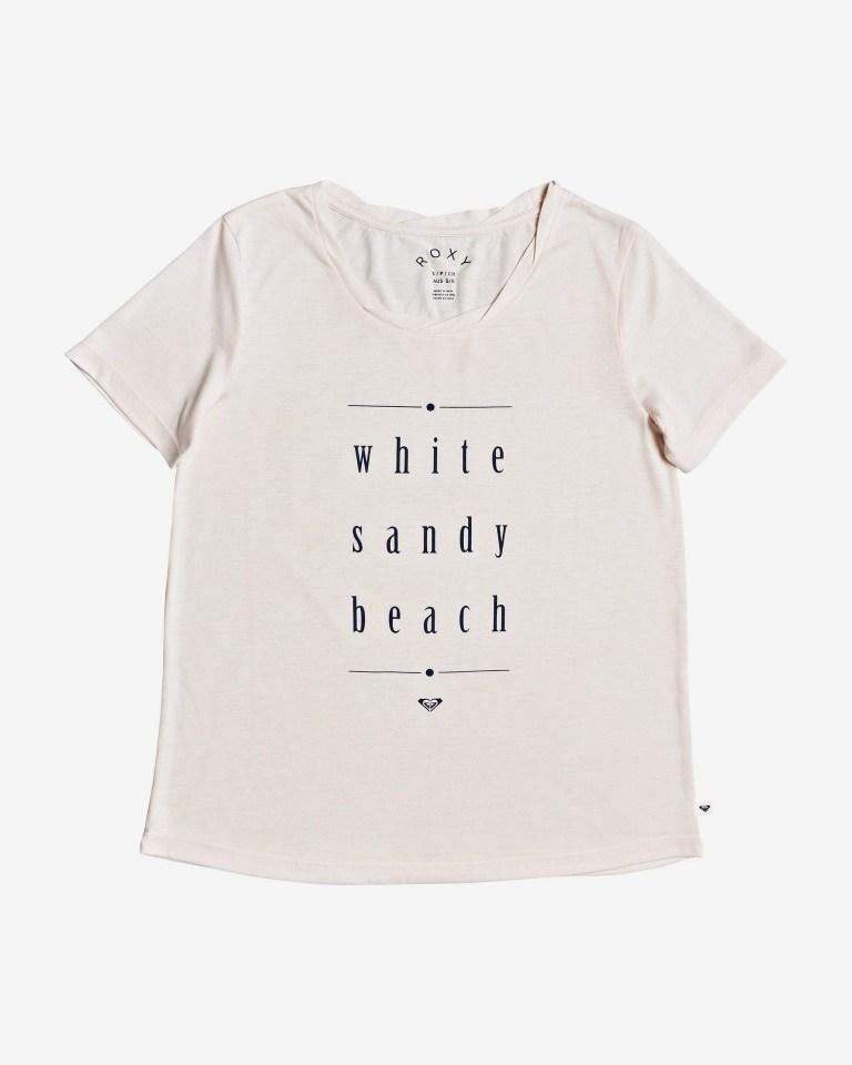 CAMISETA MANGA CORTA CHASING THE SWELL REGULAR FIT  POLYESTER/VISCOSE PEACH BLUSH