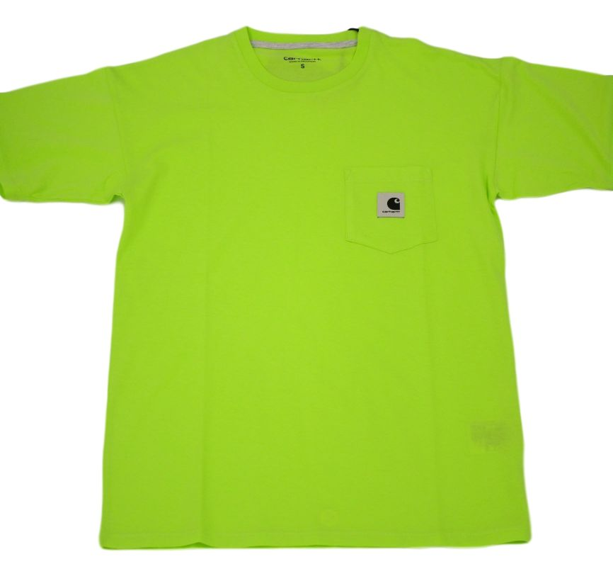 CAMISETA MANGA CORTA W S/S CARRIE POCKET T-SHIRT 100% COTTON SINGLE JERSEY, 125 G LIME/ASH HEATHER
