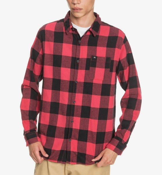 CAMISA MANGA LARGA MOTHERFLY FLANNEL REGULAR FIT ALGODON AMERICAS RED MOTHERFLY