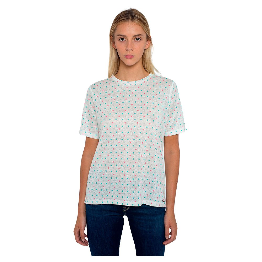 CAMISETA MANGA CORTA DENISE 100% LINO OFF WHITE