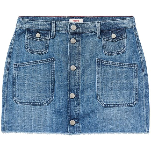 FALDA VAQUERA ALBA SLUB 100% COTTON DENIM