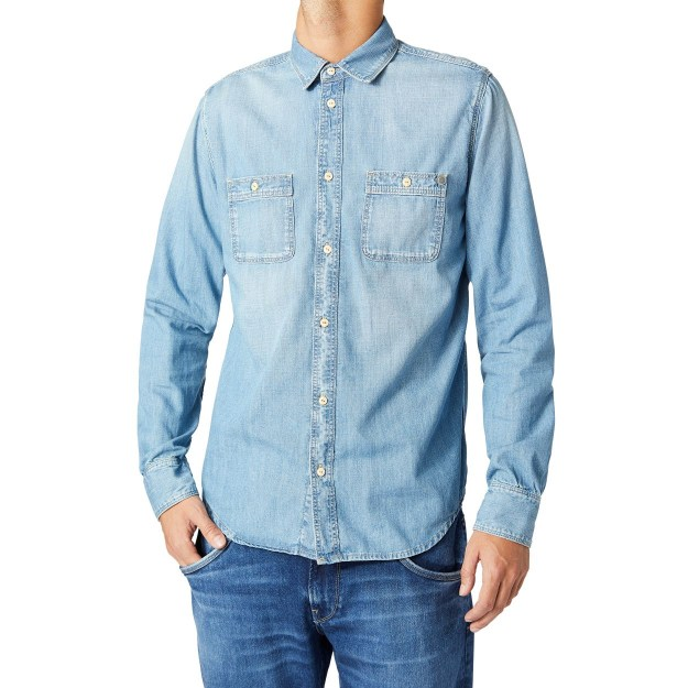 CAMISA MANGA LARGA VAQUERA PORTLAND 100% COTTON DENIM