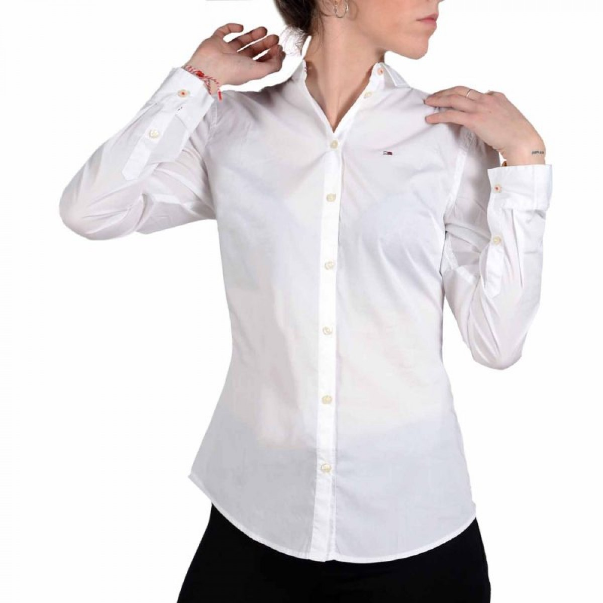 CAMISA MANGA LARGA TJW ORIGINAL STRETCH SHIRT CLASSIC WHITE