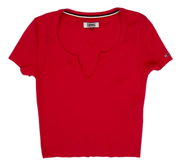 CAMISETA MANGA CORTA TJW RIB CROP TEE 57% COTTON, 38% POLYESTER, 5% ELASTANE BLUSH RED