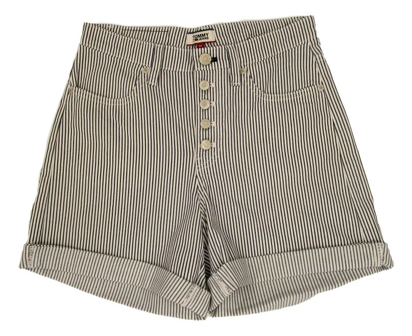 PANTALÓN CORTO TJW STRIPE SHORT 100% COTTON WHITE/TWILIGHT NAVY