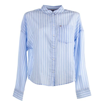 CAMISA MANGA LARGA TJW BOLD STRIPE SHIRT 100% LYOCELL WHITE / MODERATE BLUE