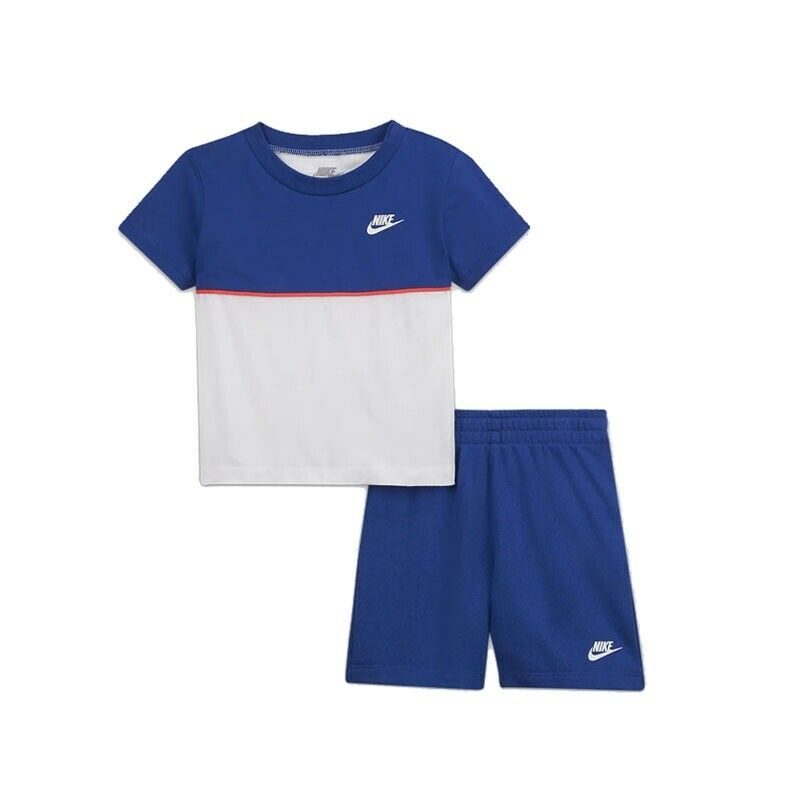 CONJUNTO CORTO NKB SEE ME FRENCH TERRY SHORT SET AZUL