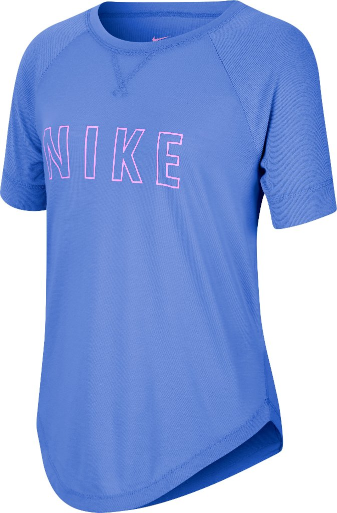 CAMISETA MANGA CORTA DRY-FIT TROPHY BIG KIDS GIRLS AZUL AGOSTO