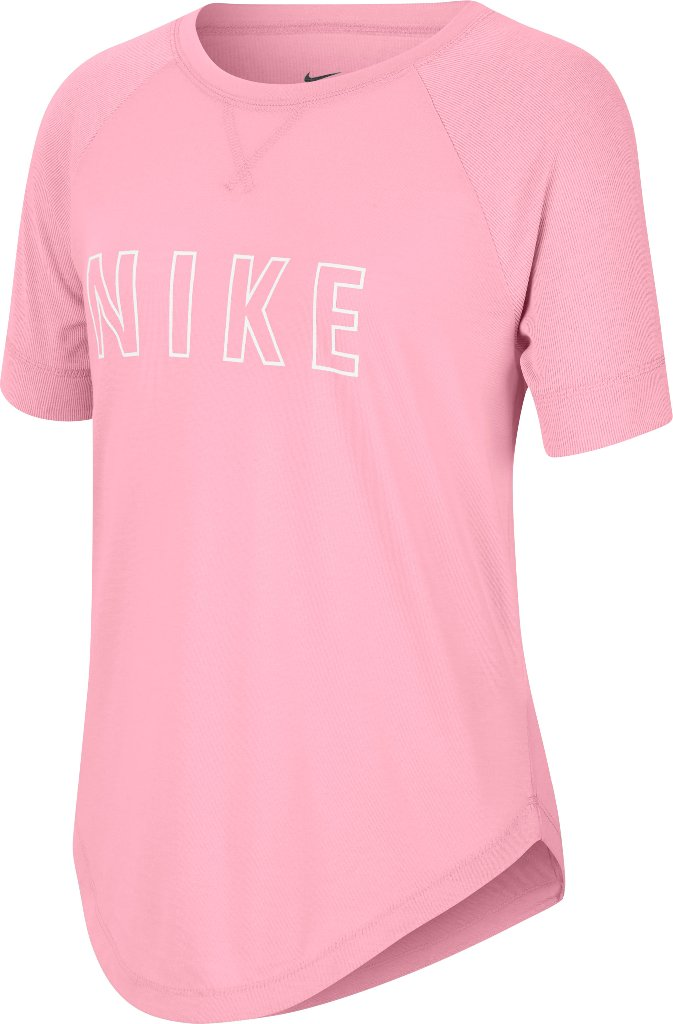 CAMISETA MANGA CORTA DRY-FIT TROPHY BIG KIDS GIRLS ROSA