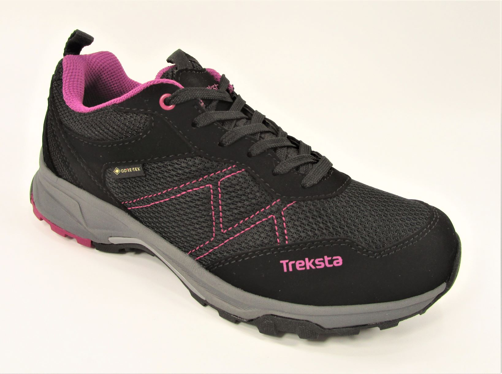 DEPORTIVA BERGEN LACE LOW 02 GTX GORE-TEX HYPERGRIP NEGRO/ROSA